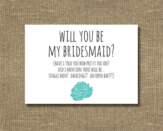 Will you be my Bridesmaid / Please be my Honorary Bridesmaid Will You Be My Bridesmaid Quotes