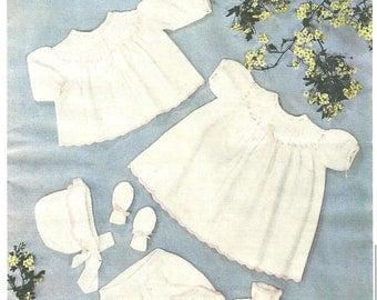 PDF Knitting pattern Sidar 205 baby girl set.