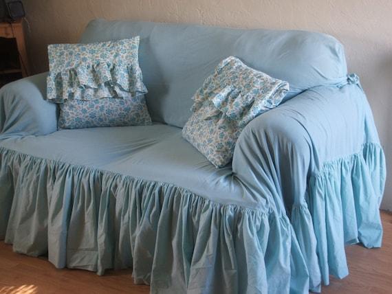 shabby chic sofa slipcoverthrow. Black Bedroom Furniture Sets. Home Design Ideas