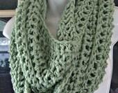 sage green cowl infinity scarf neckwarmer