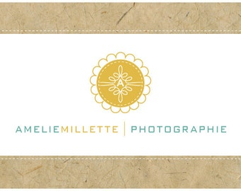 SALE - 50% off - PreDesigned Custom One of A Kind Vector Logo Design -  AMELIE logo
