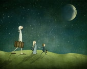 Journey by night - Art print (3 different sizes)