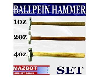 3pc Mazbot Ball pein Hammer SET
