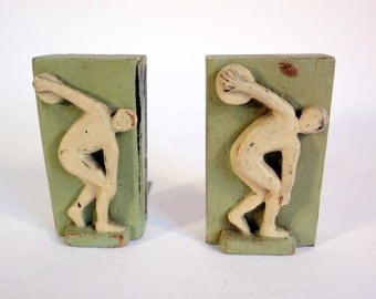 Vintage Olympian Bookends