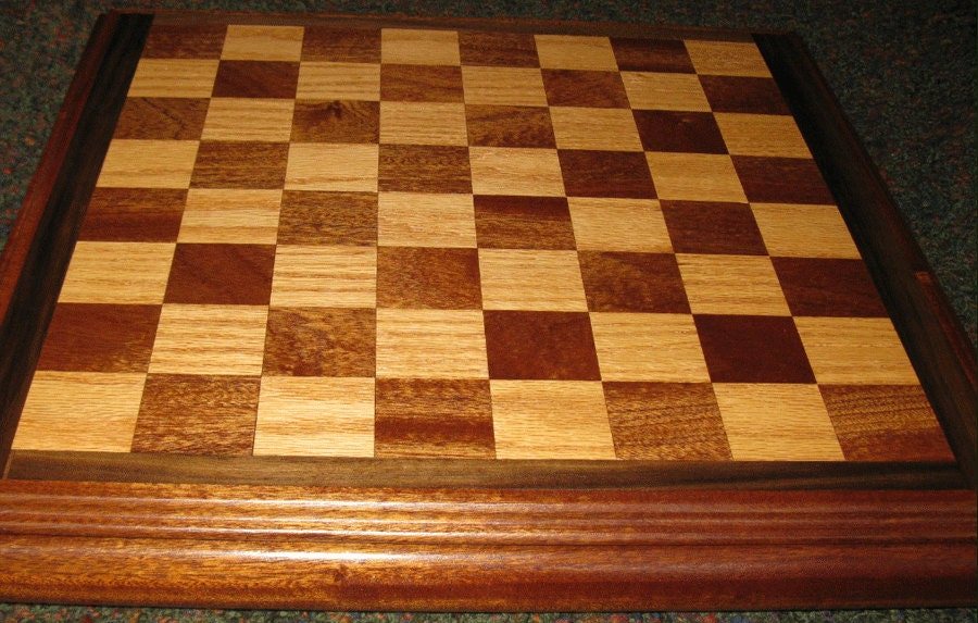 Wooden checker board wooden checkerboard in - Custom Wood Chess Checker Board