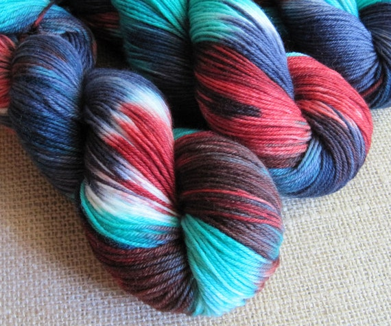 Zombie Flannel - SW Merino, Cashmere & Nylon Sock Fingering Yarn - Hand Dyed - 435 yds