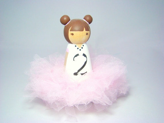 IN STOCK - Tutu Cake Topper Peg Doll Second Birthday