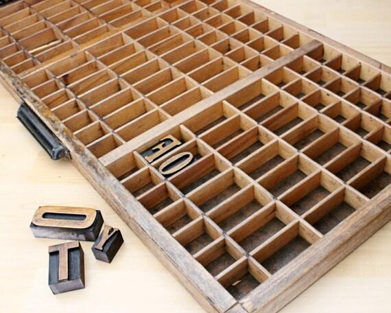 Vintage Letterpress Type Case