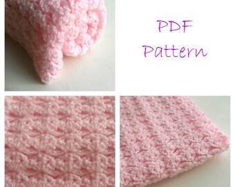 Baby Blanket Crochet Pattern - afghan lapghan PDF