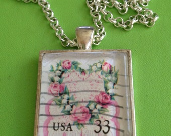 Heart Stamp Pendant Necklace