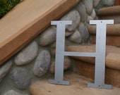 """Industrial Raw Metal Letter """"H"""" With FREE Shipping"""