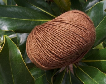 WORSTED Weight Yarn - Tobacco Extrafine Merino  - 50 g 137 yards - Lana Gatto Super Soft -  Brown Coffee Moca