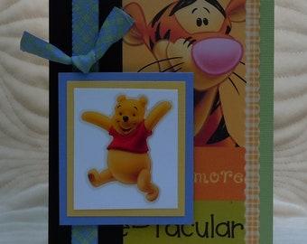 "Handmade ""Winnie the Pooh"" Birthday Card"