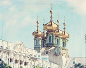 palace of whimsy, art, photography, 8x10 photograph, palace, russia, turquoise, blue, white, gold