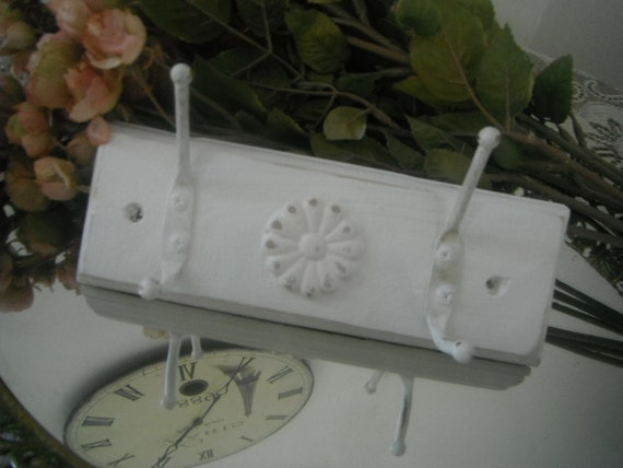 Wall hook wall hanger coat hook shabby chic, french country rustic cottage distressed cottage chic