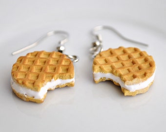 Waffle Cookies Earrings