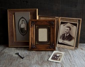 Vintage Frame Collection- Victorian Wood and Brass Metal