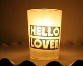 contemporary modern edgy bold decor candleholder vase luminary with handmade paper