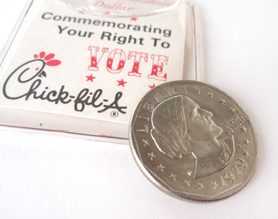 Chick Fil A Susan B Anthony Dollar Coin Vintage By