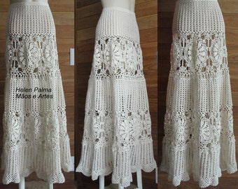 Crocheted lace LONG SKIRT