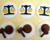 12 LAWYER or JUDGE cupcake toppers.