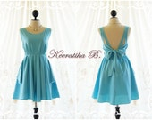 A Party Dress Baby Blue Backless Dress Cute Prom Party Dress Blue Cocktail Dress Mini Bridesmaid Dress Backless Party Dress Short Dresses