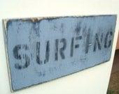surfing decor wood wall art