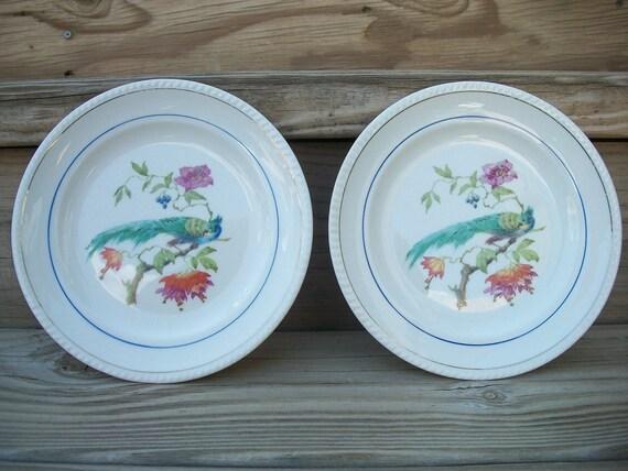 Vintage Peacock Plates