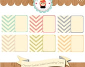 Documented 365 Double Sided Chevron / ZigZag Journaling Card Digi Kit by Sarah Hurley - Hybrid Scrapbooking / Crafts