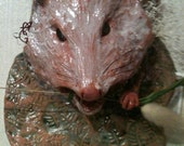 Opossum Ceramic Wall Hanging
