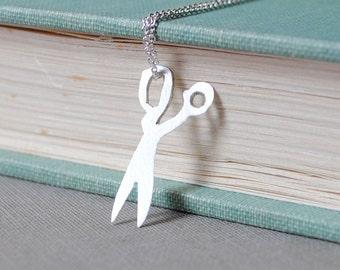 Scissors Silhouette Necklace