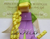 """Beautiful Rapunzel 2 """"TANGLED"""" Princess Hair Clip-- Inspired by Disney-- Birthdays and Baby Showers"""