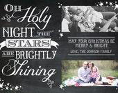 Custom Chalkboard Christmas Card - Printable PDF
