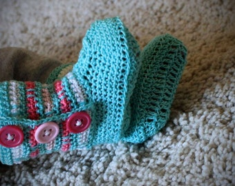 Infant Baby Striped Boot Booties Crib Shoes Perfect Baby Gift