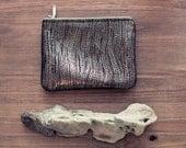 SALE Golden Wood Foil Leather Coin Purse No. CP-1002