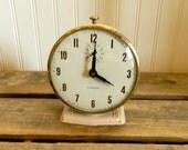 Vintage Clock Pink  Alarm Clock The Lux Company