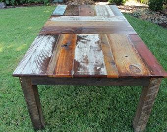 "60"" CARRILLION ~ Handmade Reclaimed Wood Dining Table"