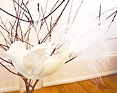 White Peace Dove/ Eco Felt Christmas Ornament/ White Bird/ Cristmas Gift Idea/ Ready to Ship