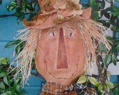Fall, Primitive, Scarecrow, Head For The Door Or Wall