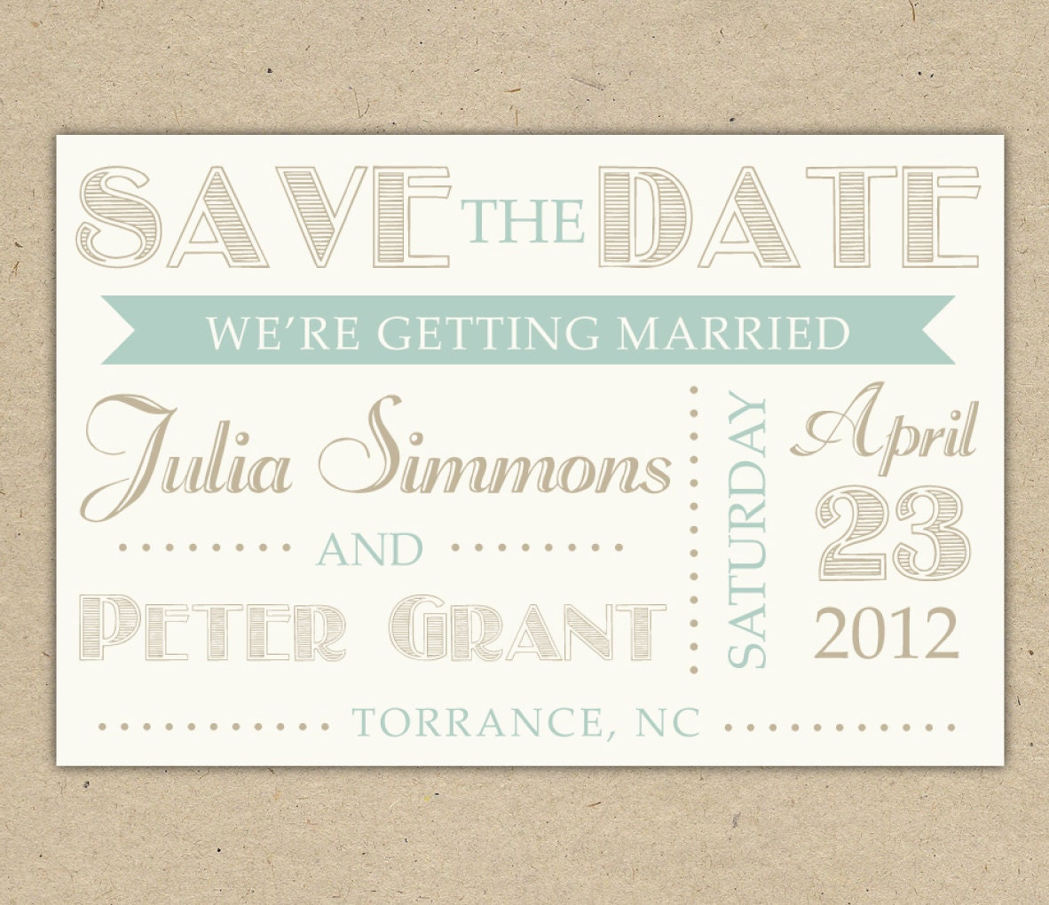 Save the date modern text custom diy printable template for Vintage save the date templates free