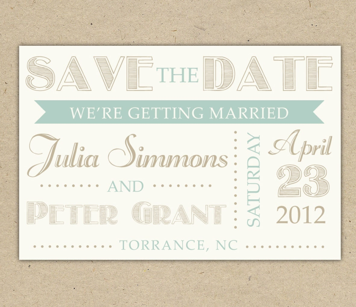save the date   modern text custom  diy printable template