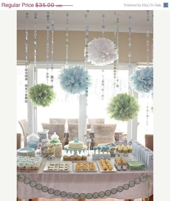 Diy tissue pom pom backdrop - Choose Your Colors 10 Tissue Paper Poms Weddings