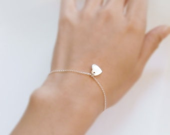 Pretty girl (bracelet) - Small and whimsical sterling silver heart
