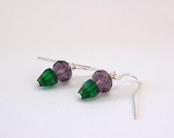 Purple Planted Earrings