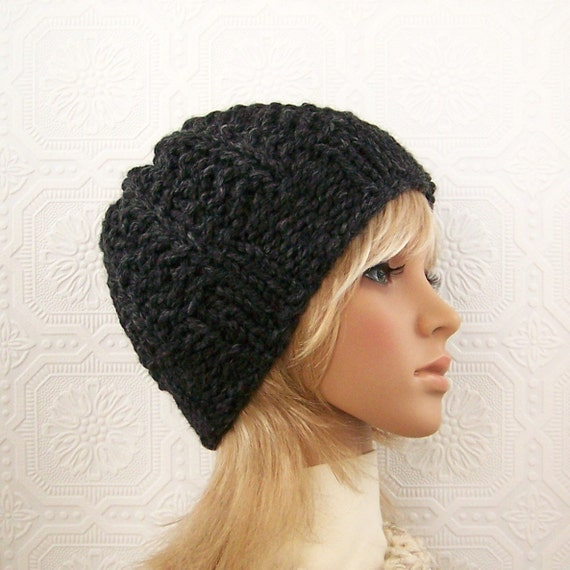 Hand knit hat - beanie - your color choice - womens winter fashion accessories by Sandy Coastal Designs - made to order