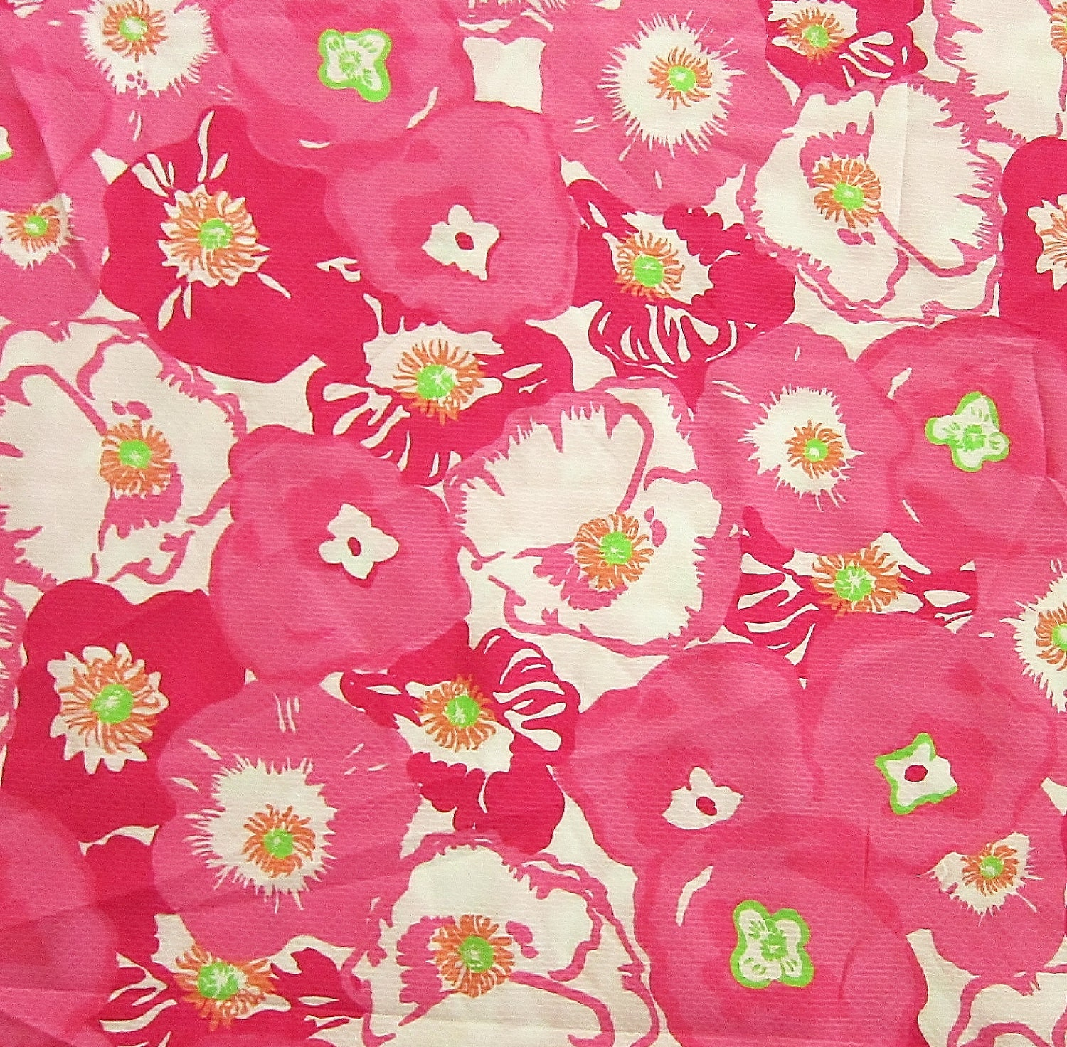 Authentic New Lilly Pulitzer Fabric Hotty Pink Cherry