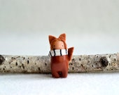 red fox woodland spirit miniature clay brooch pin by mountroyalmint