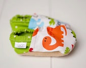 Little Foot Dinosaur - Bison Booties Size 12 to 18 Months Toddler Slippers cloth fabric bootys Ready to Ship