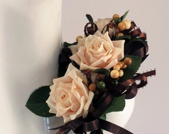 Rose and Berry Corsage.