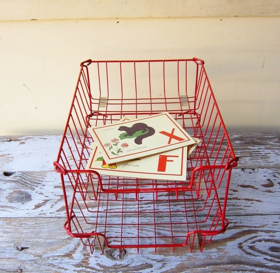 Vintage Wire Desk Trays Set Of Two